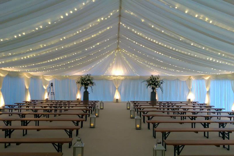 Lighting for wedding marquees