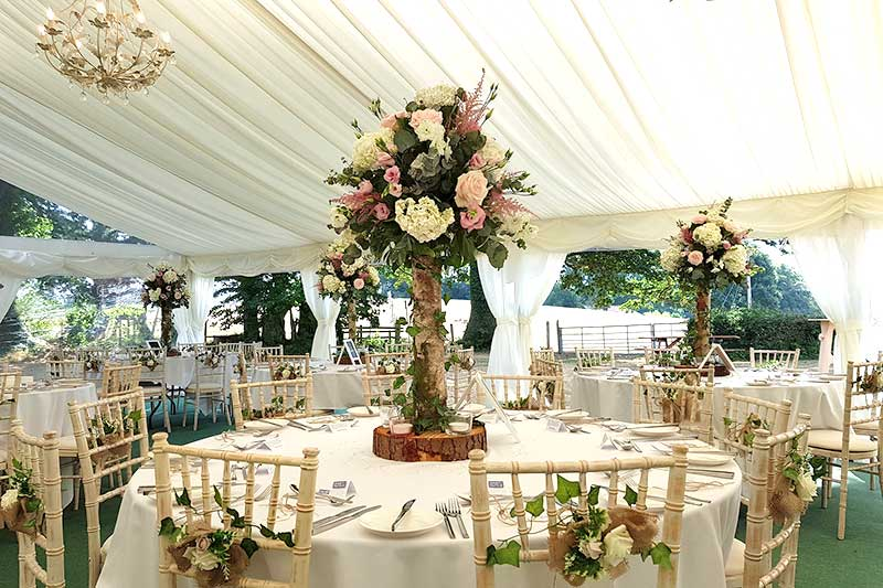 Marquee Interiors for weddings and events